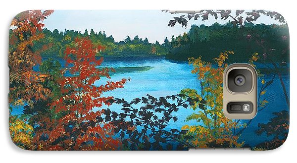 Galaxy Case featuring the painting Floodwood by Lynne Reichhart
