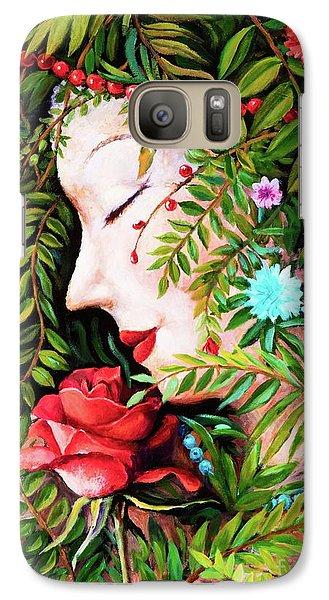 Galaxy Case featuring the painting Flora-da-vita by Igor Postash