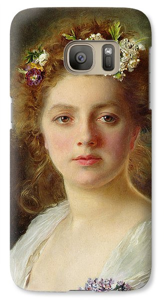 Flora Galaxy Case by Gustave Jacquet