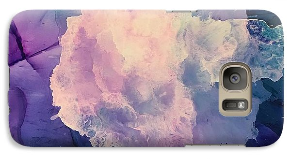 Galaxy Case featuring the painting Floral Abstract by Suzanne Canner