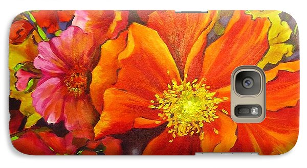 Galaxy Case featuring the painting Floral Abundance by Chris Hobel