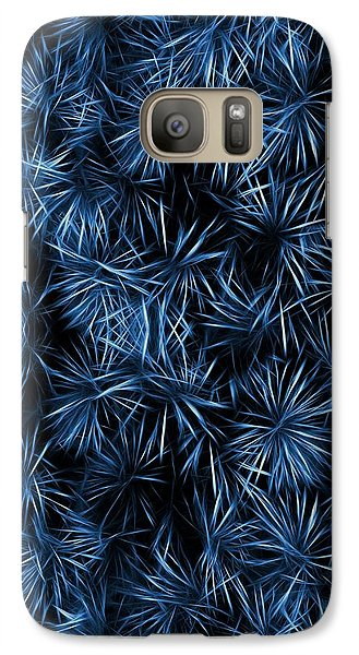 Galaxy Case featuring the painting Floral Blue Abstract by David Dehner