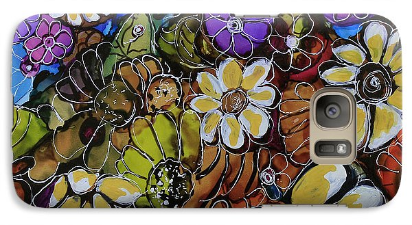 Galaxy Case featuring the painting Floral Boquet by Suzanne Canner