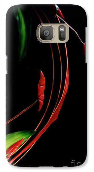 Galaxy Case featuring the photograph Floral Curve by Charline Xia