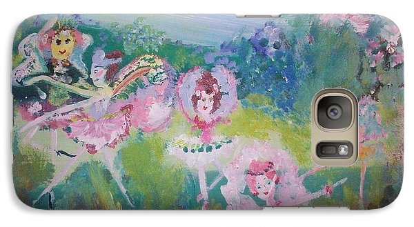 Galaxy Case featuring the painting Floral Fairies by Judith Desrosiers