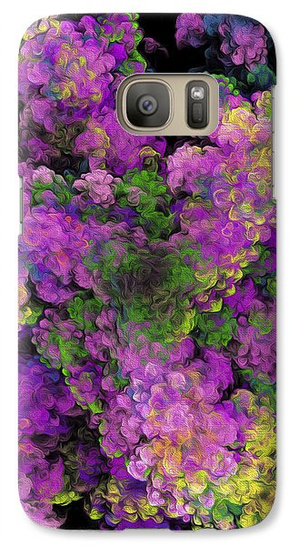 Galaxy Case featuring the digital art Floral Fancy Abstract by Andee Design