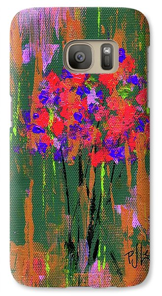 Galaxy Case featuring the painting Floral Impresions by P J Lewis