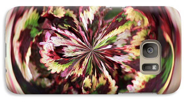 Galaxy S7 Case featuring the photograph Floral Orb by Bill Barber