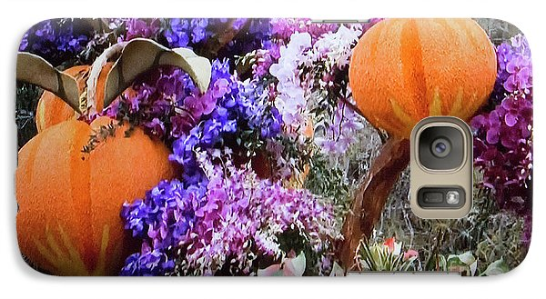 Galaxy Case featuring the photograph Floral Peaches by Linda Phelps