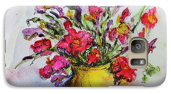 Galaxy Case featuring the painting Floral Still Life 05 by Linde Townsend