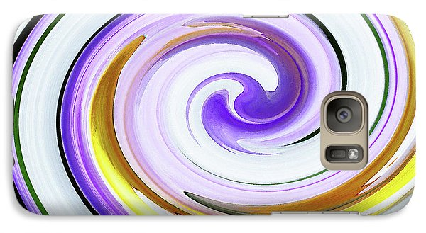 Galaxy Case featuring the photograph Floral Swirl 3 by Margaret Saheed