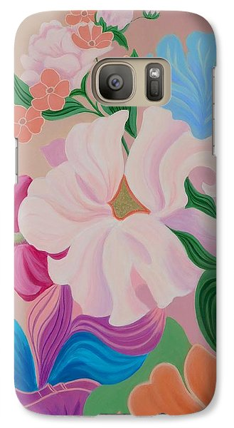 Galaxy Case featuring the painting Floral Symphony by Irene Hurdle