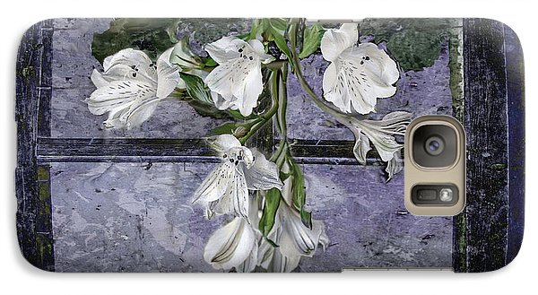 Galaxy Case featuring the photograph Floral Window Frame by Bonnie Willis