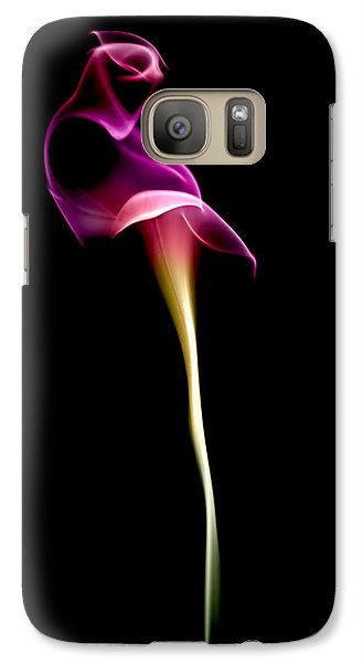 Lily Galaxy S7 Case - Floral Wisp by Maggie Terlecki