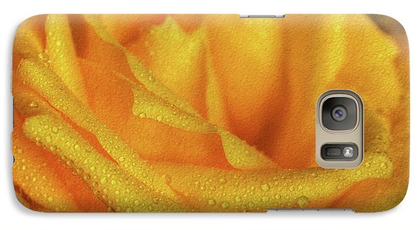 Galaxy Case featuring the photograph Floral Yellow Rose Blossom by Shelley Neff