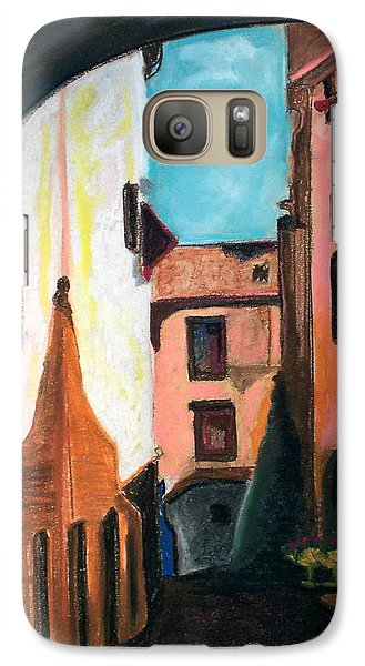 Galaxy Case featuring the drawing Florence Cove by Patricia Arroyo