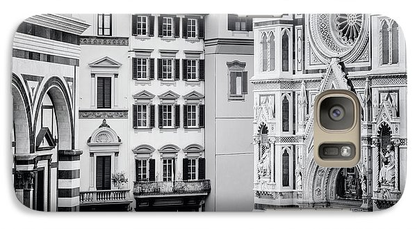 Galaxy Case featuring the photograph Florence Italy View Bw by Joan Carroll