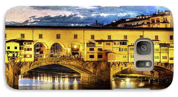 Florence - Ponte Vecchio Sunset From The Oltrarno - Vintage Version Galaxy S7 Case