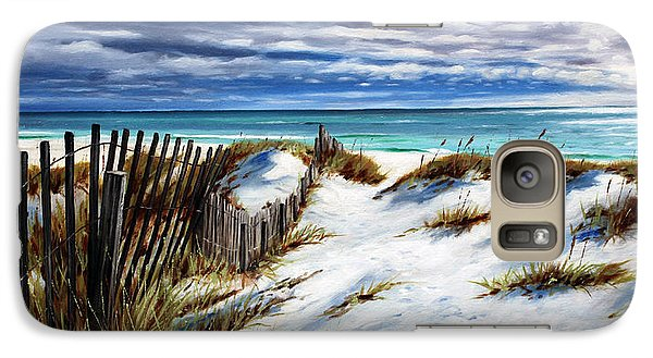 Galaxy Case featuring the painting Florida Beach by Rick McKinney