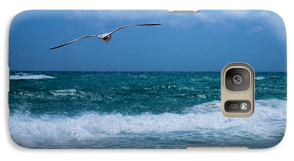 Galaxy Case featuring the photograph Florida Seagull In Flight by Jason Moynihan