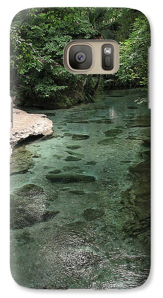 Galaxy Case featuring the photograph Florida Spring Run by Peg Urban