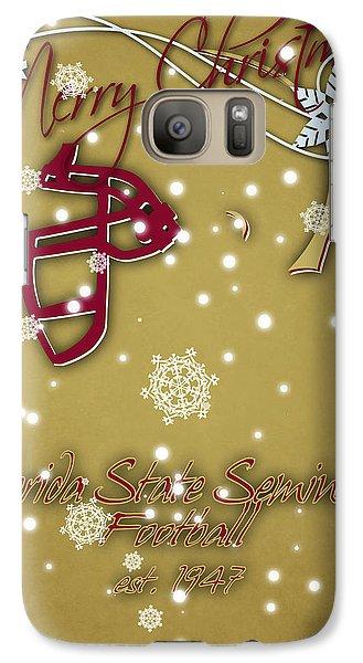 Florida State Galaxy S7 Case - Florida State Seminoles Christmas Card 2 by Joe Hamilton