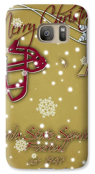 Florida State Seminoles Christmas Card 2 Galaxy Case by Joe Hamilton