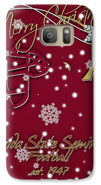 Florida State Seminoles Christmas Card Galaxy S7 Case by Joe Hamilton