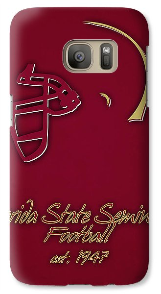 Florida State Galaxy S7 Case - Florida State Seminoles Helmet by Joe Hamilton