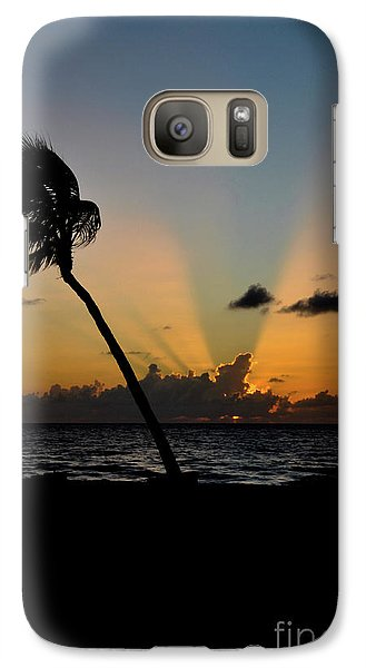 Galaxy Case featuring the photograph Florida Sunrise Palm by Kelly Wade