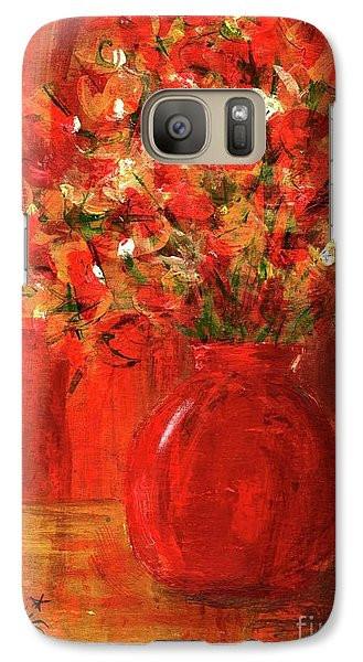Galaxy Case featuring the painting Florists Red by P J Lewis
