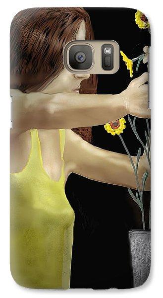 Galaxy Case featuring the digital art Flower Arranger by Kerry Beverly