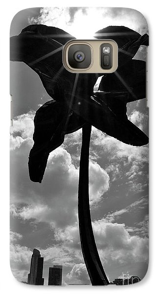 Galaxy Case featuring the photograph Flower Art by Zawhaus Photography