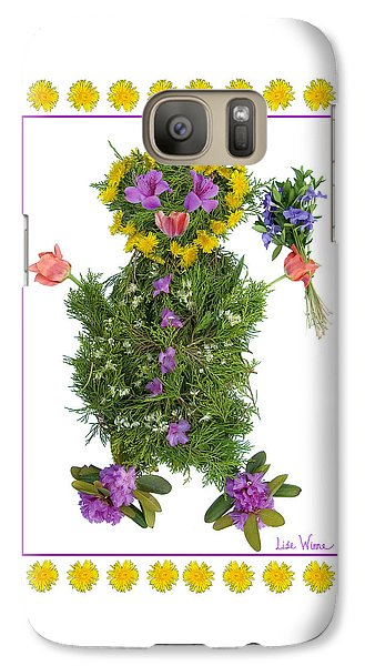 Galaxy Case featuring the digital art Flower Baby by Lise Winne