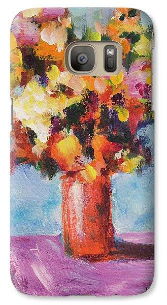 Flower Bouquet In Red Vase Galaxy S7 Case by Yulia Kazansky