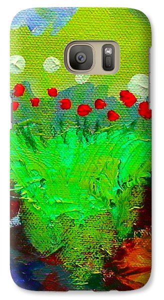 Galaxy Case featuring the painting Flower Buds Detail From The Fairy Queen by Angela Annas