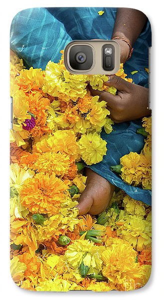 Galaxy Case featuring the photograph Flower Child by Tim Gainey