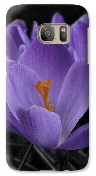 Galaxy Case featuring the photograph Flower Crocus by Nancy Griswold