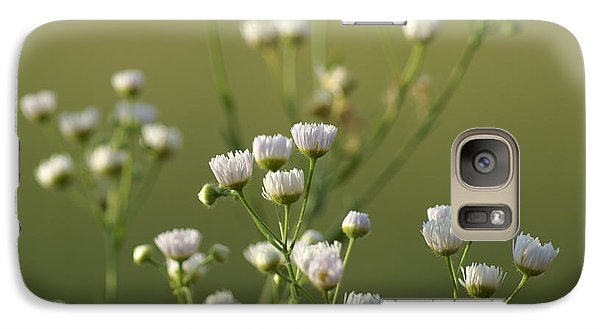 Galaxy Case featuring the photograph Flower Drops by Heidi Poulin