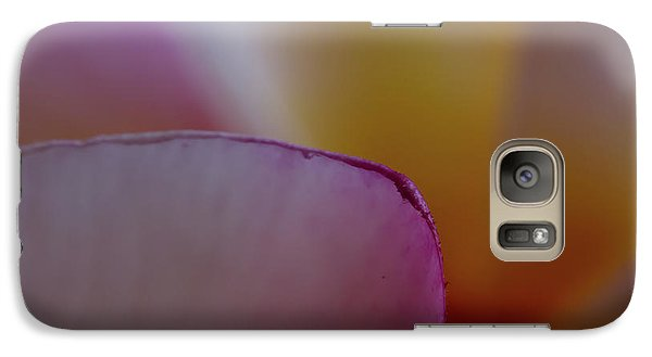 Galaxy Case featuring the photograph Flower Edges by Roger Mullenhour