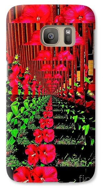 Galaxy Case featuring the digital art Flower Garden Abstract by Marsha Heiken