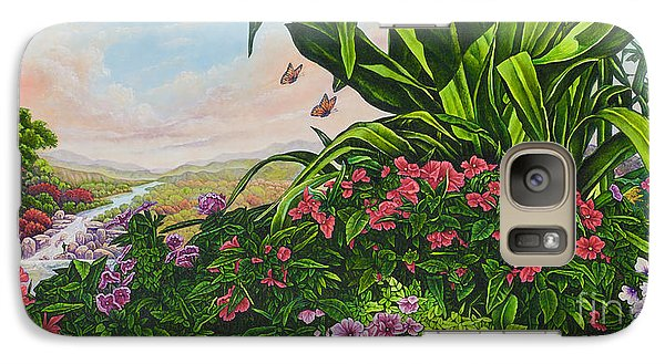 Galaxy Case featuring the painting Flower Garden Vii by Michael Frank