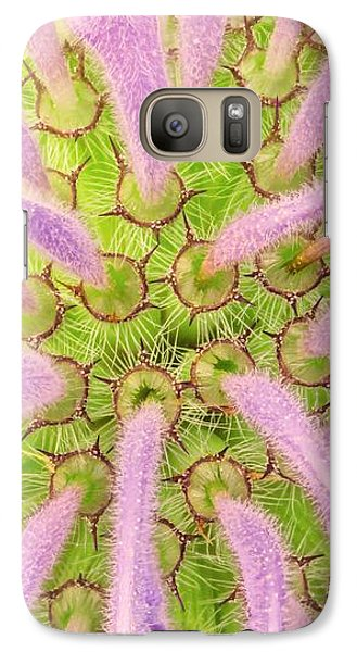 Galaxy Case featuring the photograph Flower Interior, Wild Bergamot Or  Bee Balm by Jim Hughes