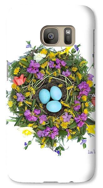 Galaxy Case featuring the digital art Flower Nest by Lise Winne