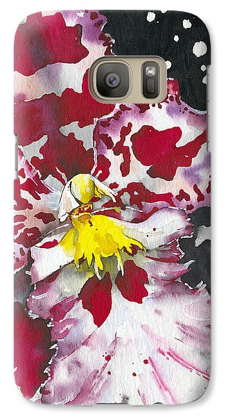 Galaxy Case featuring the painting Flower Orchid 11 Elena Yakubovich by Elena Yakubovich