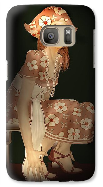 Galaxy Case featuring the digital art Flower Pirate by Kerry Beverly