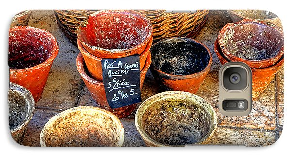 Galaxy Case featuring the photograph Flower Pots In Provence by Olivier Le Queinec