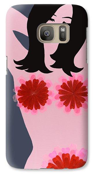 Flower Power - Pink Galaxy S7 Case