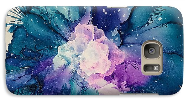 Galaxy Case featuring the painting Flower Power by Suzanne Canner