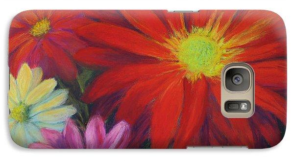 Galaxy Case featuring the painting Flower Power by Vikki Bouffard